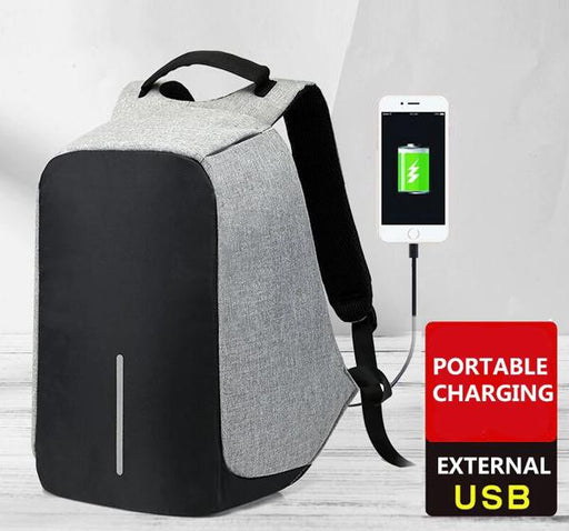 Portable Charging USB Port Waterproof Anti-Theft Laptop Bag - Hiffey