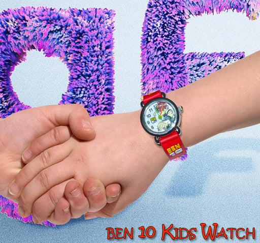 Red Analog Watch For Kids - Ben10 - Hiffey