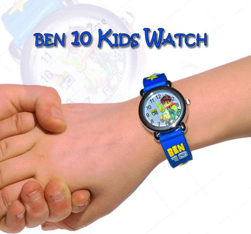 Navy Blue Analog Watch For Kids - Ben10