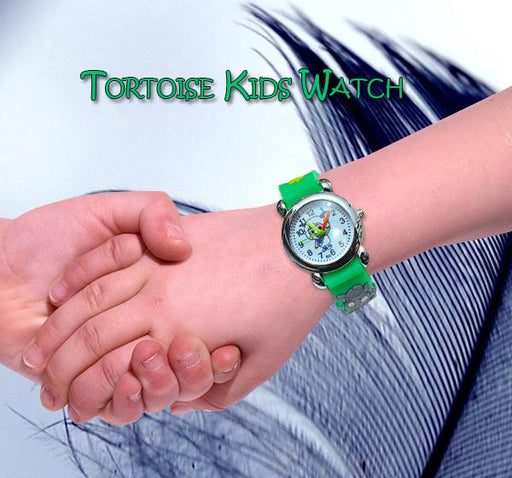 Green Analog Watch For Kids- Sheep Cartoon - Hiffey