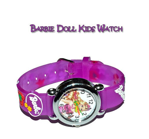 Purple Analog Watch For Kids - Barbie - Hiffey