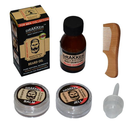 Drakker Beard Oil Kit - Heavy Growth Hair - Hiffey
