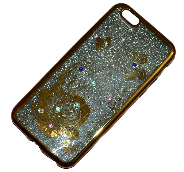 iPhone 6G - Premium Quality Glitter Mobile Cover - Golden - Hiffey