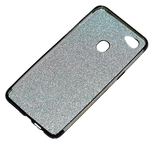 Oppo F7 - Premium Quality Glitter Mobile Cover - Black - Hiffey