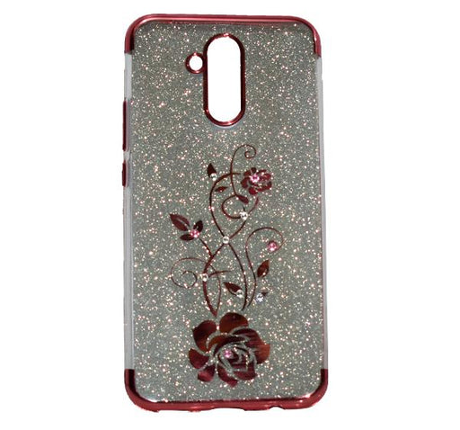 Huawei Mate 20 Lite - Premium Quality Glitter Mobile Cover - Red - Hiffey
