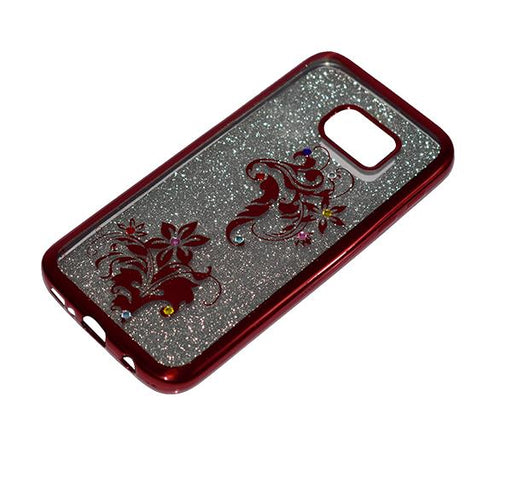 Samsung Galaxy S7 - Premium Quality Glitter Mobile Cover - Red - Hiffey