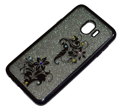 Samsung Galaxy J4 - Premium Quality Glitter Mobile Cover - Black - Hiffey