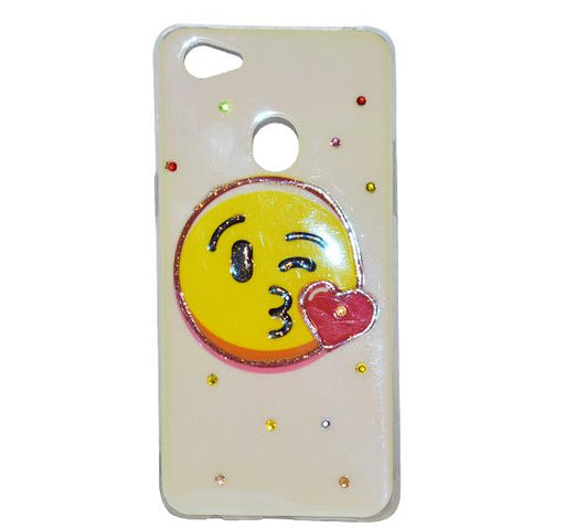 Oppo F7 - Smiley Face Mobile Back Cover - Hiffey