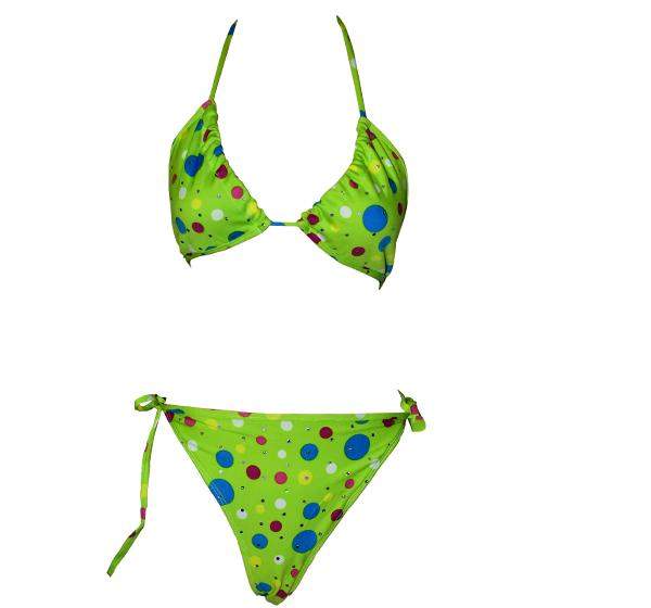 Jersey Non Padded Bikini Set For Women - Green - Hiffey