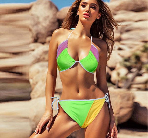 3 Multi Color Non Padded Jersey Bikini Set For Women - Hiffey