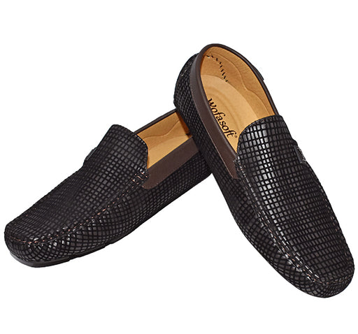 Trendy Velvet Loafers for Men - Coffee