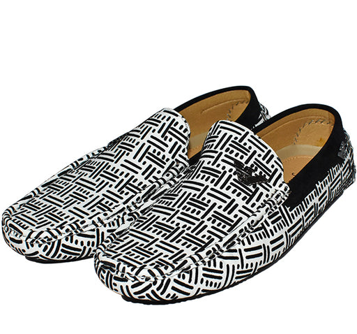 Trendy Velvet Loafers for Men - White - Hiffey