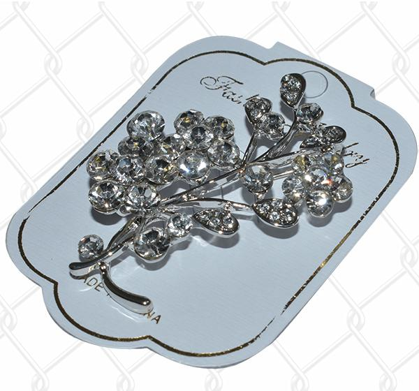 Best Hijab Safety Pins Brooch - Silver - Hiffey