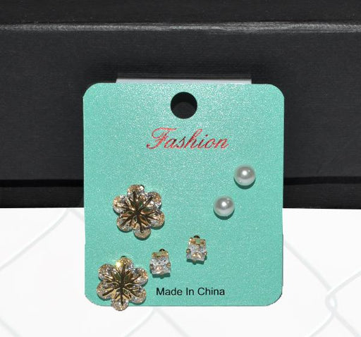 Decent Stud Earrings Set For Women - Pair of 3 - Hiffey