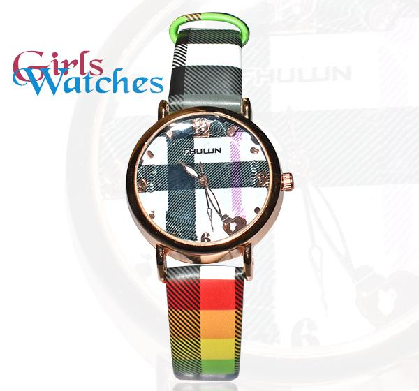 Green Fashion Love Circle Watch -1327L - Hiffey