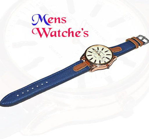 Big Dial Analogue Watch with Blue Denim Straps - Hiffey
