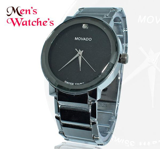 Movado Chain Strap with Black Dial Watch for Men - Hiffey