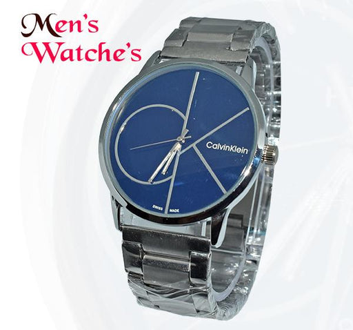 CK Blue Big Dial Chain Straps Watch for Men - Hiffey
