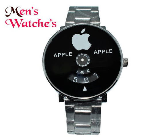 Apple Icon Black Big Dial Chain Straps Watch for Men - Hiffey
