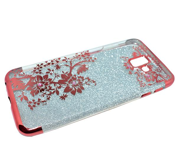 Samsung J6 - Premium Quality Glitter Moblie Cover - Mahroon - Hiffey