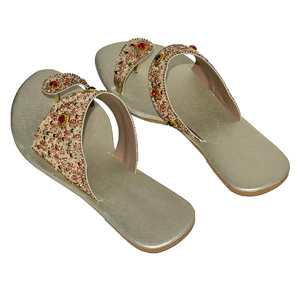 Colorful Pearls Thumb Style Slipper For Ladies - Hiffey