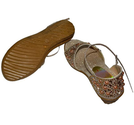 GOLDEN PEARLS SANDAL FOR LADIES - Hiffey