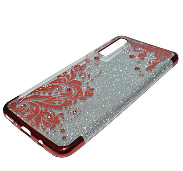 Samsung A7 - Premium Quality Glitter Mobile Cover - Red - Hiffey