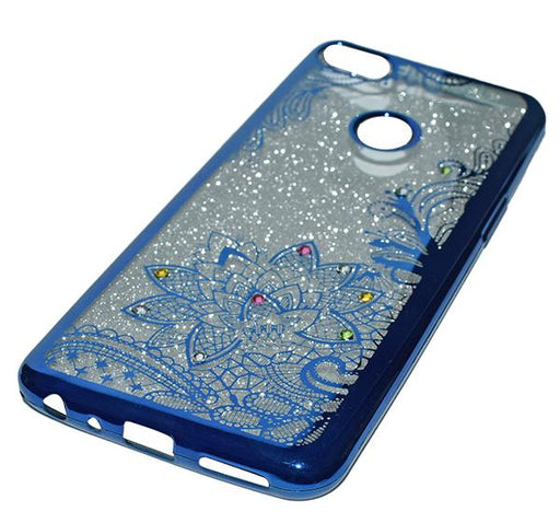 Infinix Hot 6 (X606) - Premium Quality Glitter Mobile Cover - Blue - Hiffey