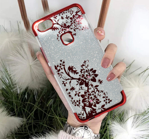 Vivo Y83 - Premium Quality Glitter Mobile Cover - Red - Hiffey