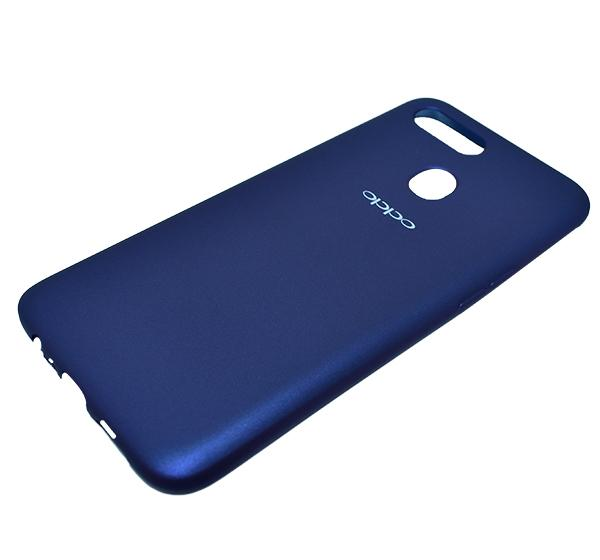 Oppo A7 - High Quality Mobile Back Cover - Blue - Hiffey