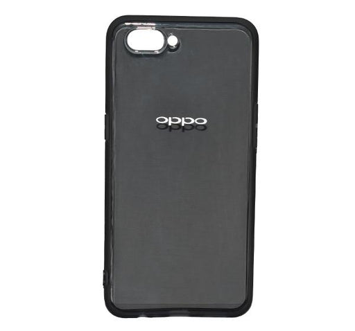 Oppo A3S - High Quality Transparent Mobile Back Cover - Black - Hiffey