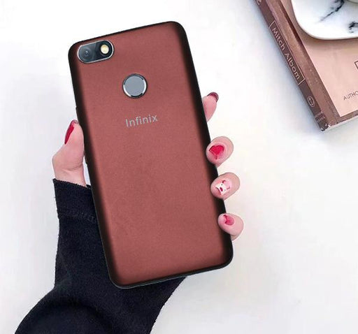 Infinix X604 High Quality Mobile Back Cover - Brown - Hiffey