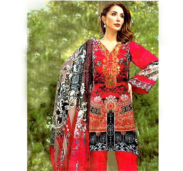 3 PIECE EMBROIDERY CHIFFON DUPATTA COLLECTION-JZ18B - Hiffey