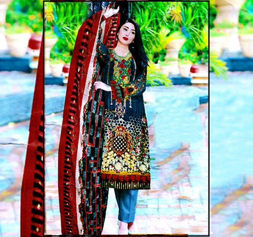 3 Piece Embroidery Chiffon Dupatta Collection - Hiffey