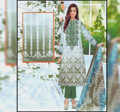 Piece Embroidery Chiffon Dupatta Collection-S53B - Hiffey