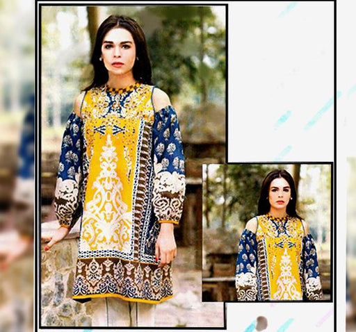 3 Piece Embroidery Chiffon Dupatta Collection-AK4018 - Hiffey