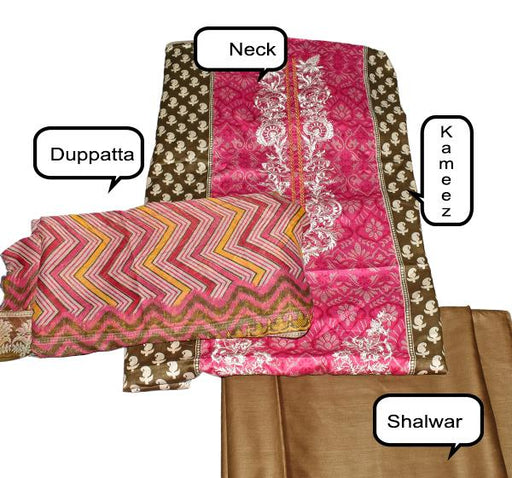 Stylish Design Front Embroidery Chiffon Dupatta Collection - Hiffey