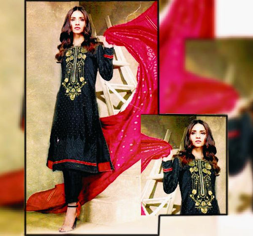 3 Piece Embroidery Lawn Dupatta Collection - AK416 - Hiffey