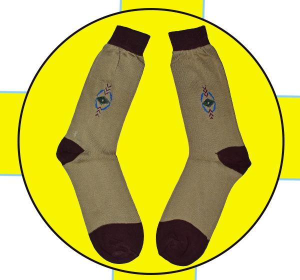Fire Stone Men Cotton Socks - Camel Brown - Hiffey