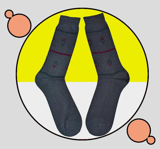 Exclusive Standard Cotton Socks For Men - Gray - Hiffey