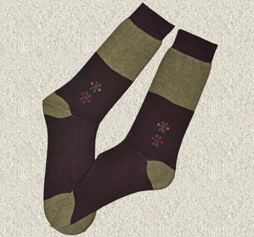 Durable Cotton Socks For Men - Brown - Hiffey