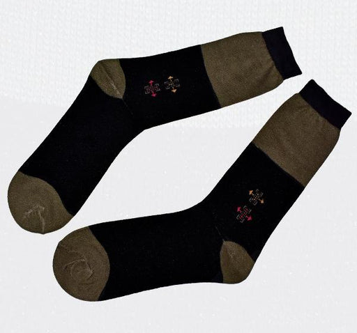 Durable Cotton Socks For Men - Black - Hiffey