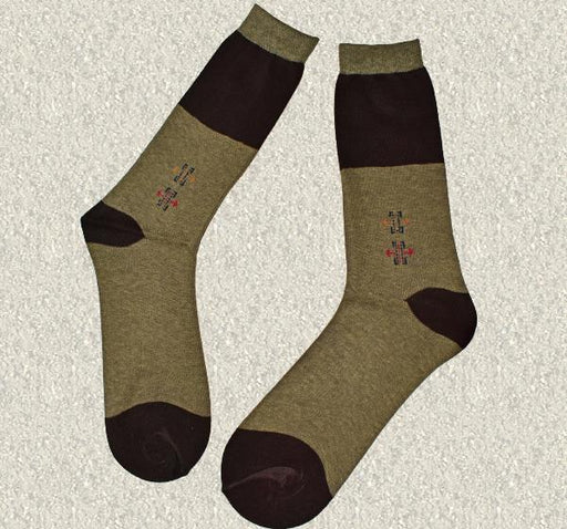 Durable Cotton Socks For Men - Dark Cream - Hiffey