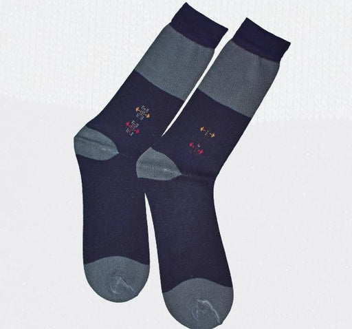 Durable Cotton Socks For Men - Navy Blue - Hiffey