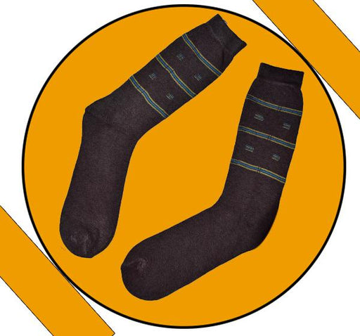 Finest Quality Comely Men Cotton Socks - Light Brown - Hiffey