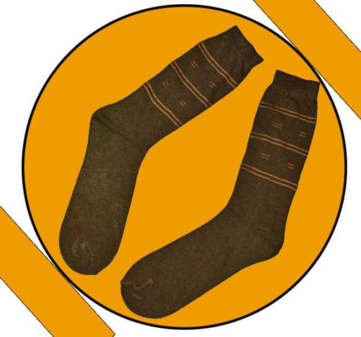 Finest Quality Comely Men Cotton Socks - Mustard - Hiffey