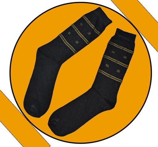 Finest Quality Comely Men Cotton Socks - Black - Hiffey