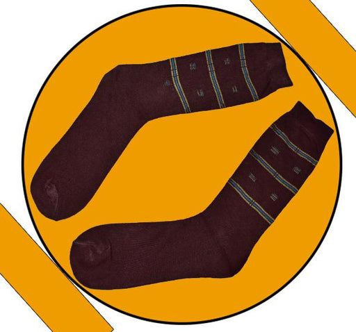 Finest Quality Comely Men Cotton Socks - Dark Brown - Hiffey