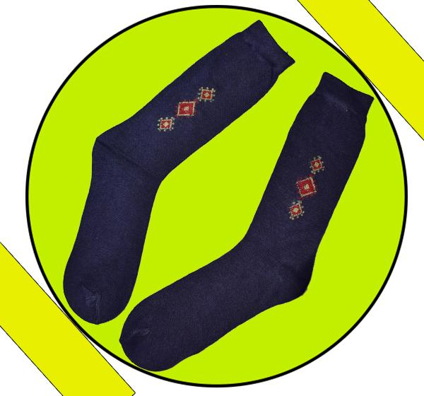 Latest Comely Men's Collection Cotton Socks - Navy Blue - Hiffey
