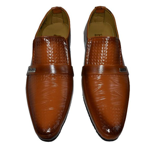 Shiny Formal Shoes For Men - Shaded Brown - Hiffey